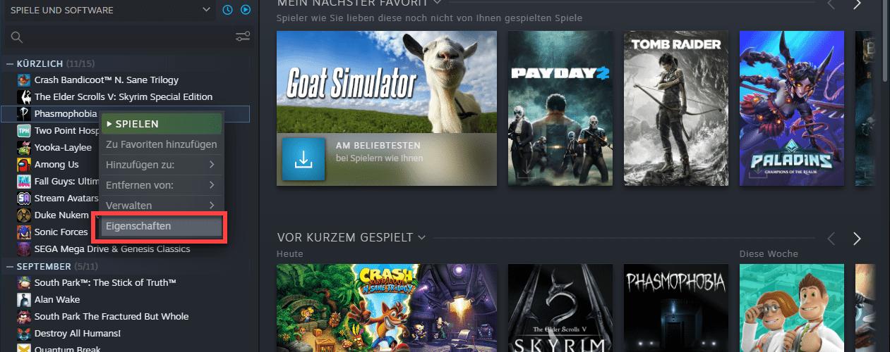 Spiele in Steam auf Beta umstellen
