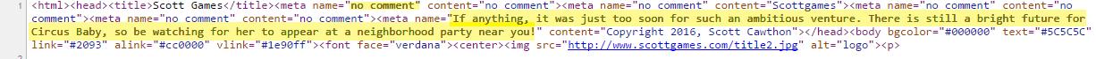 FNAF5 Canceled HTML